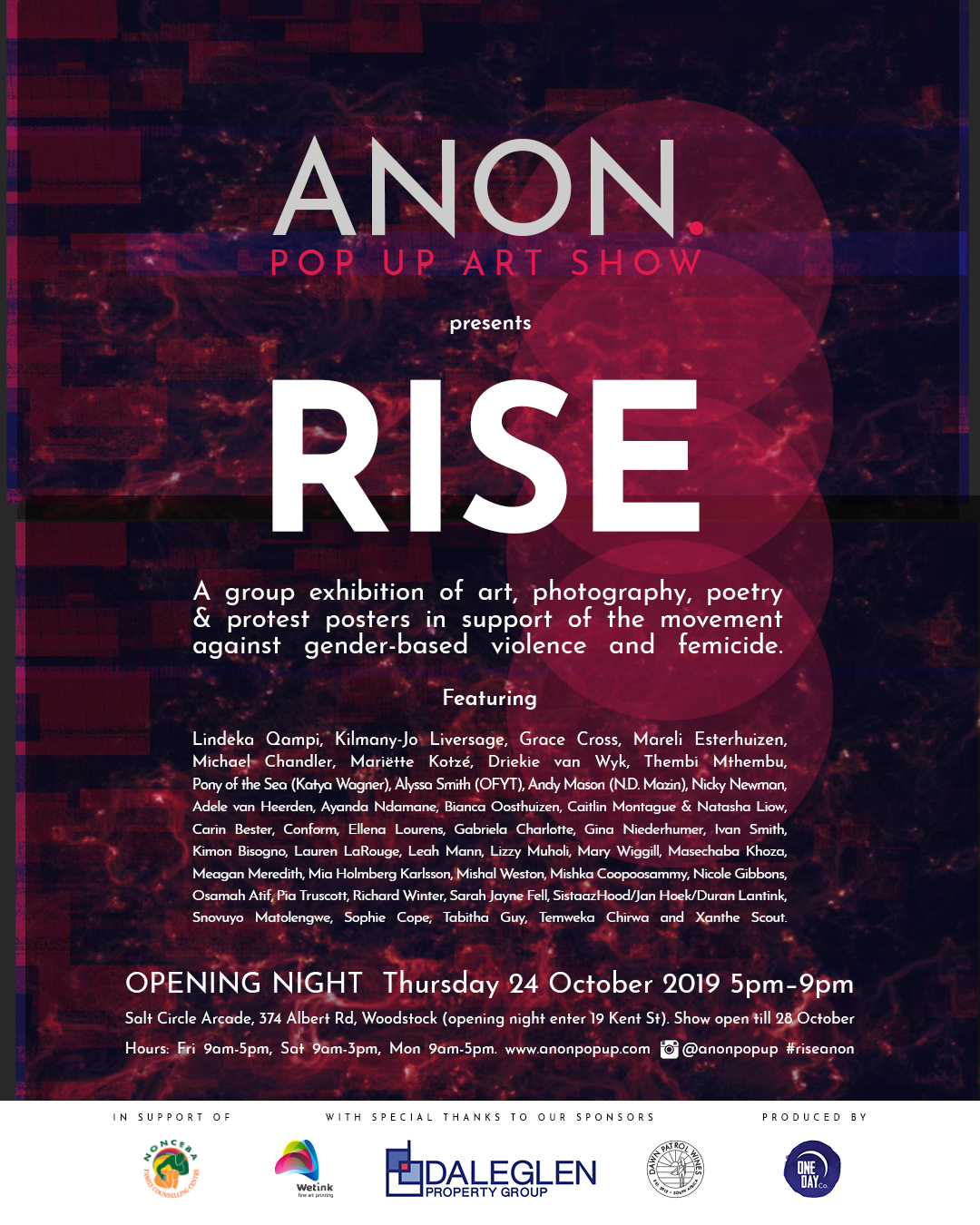 ANON Rise exhibition poster 01