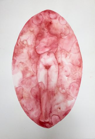 Amy SImons, Holiding onto Healing, watercolour, 700mm x 1000mm